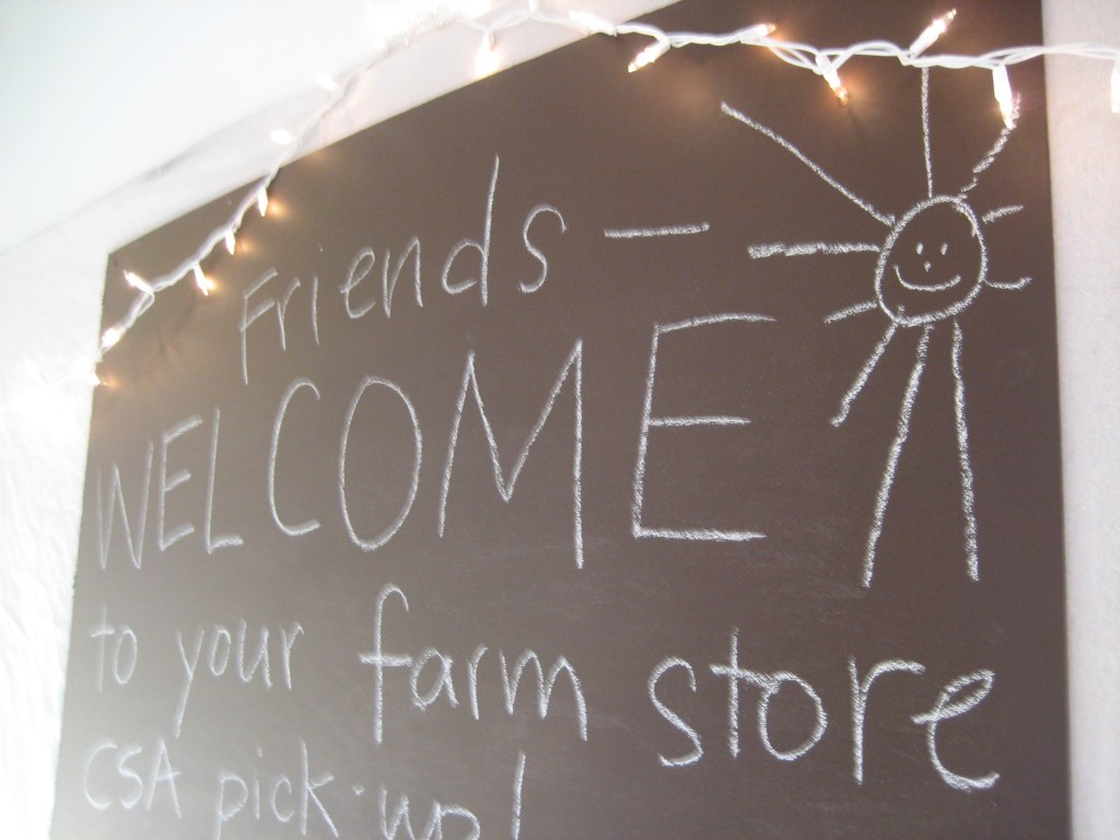 We are all ready to welcome you to our storefront CSA pick-up tomorrow!