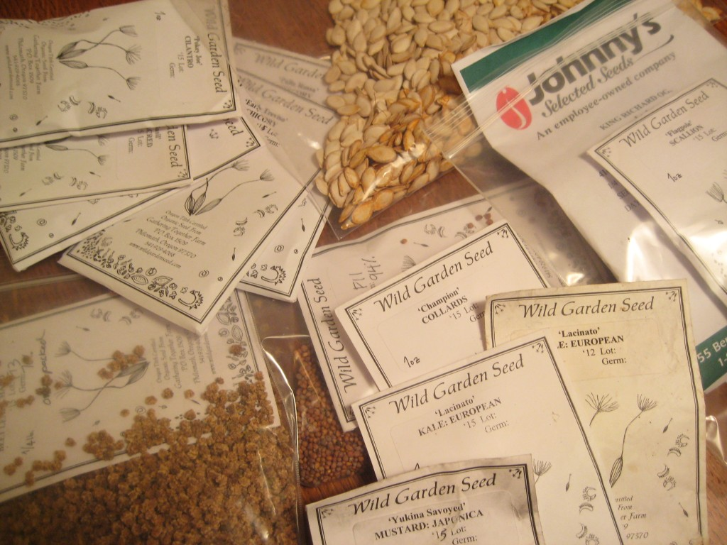 Seeds! Our collection is growing ... we are still waiting for orders from many companies!