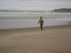 Joy is a child running full-tilt on the beach. So much fun.