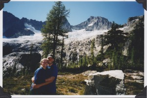 A photo from the archives today — this is us in 2003, before we were farmers, at Holden Pass. It was on hikes such as these that our farm dreams were born.