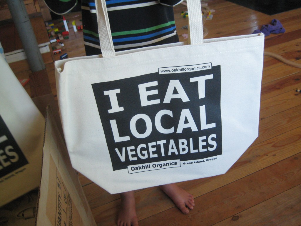 Super sturdy 15 oz. cotton bag for picking up your veggies (and anything else you want to do with it)!