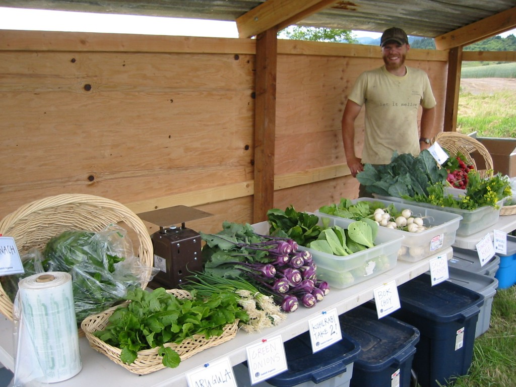 2006 - Our first CSA pick-up ever!