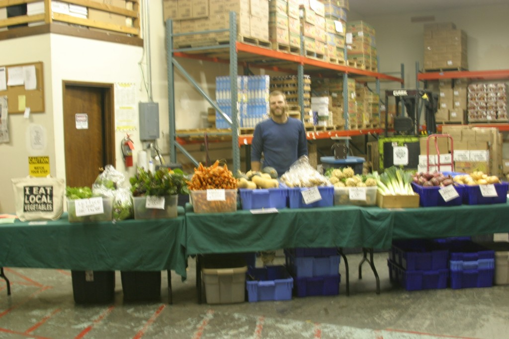 2007 - We spent many years hosting our winter CSA pick-ups in the food bank warehouse space at the old YCAP building.